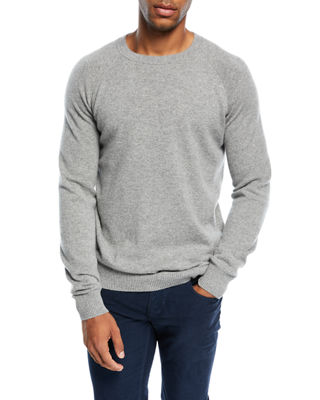 Cashmere Baseball Crewneck Sweater