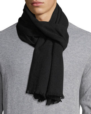 19 ANDREA'S 47 Solid Cashmere Scarf in Black