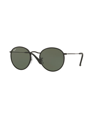Ray-Ban Round Craft Leather Sunglasses