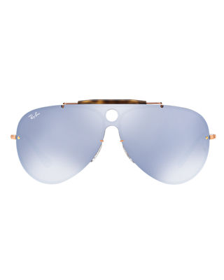 Image 2 of 2: Blaze Shooter Flat Shield Sunglasses