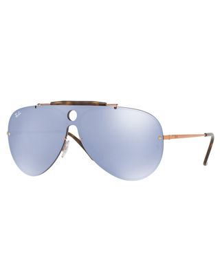 Image 1 of 2: Blaze Shooter Flat Shield Sunglasses