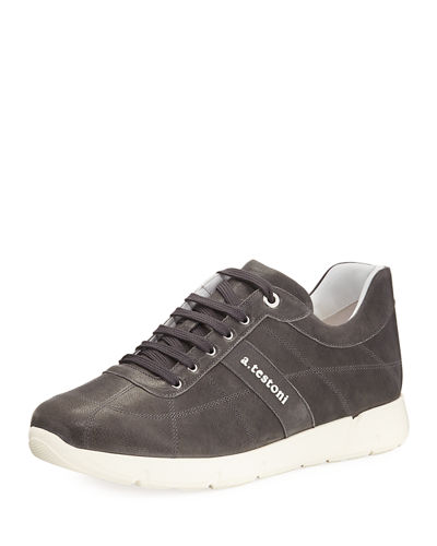 Men's Leather Trainer Sneakers