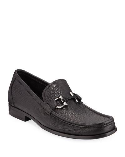 Salvatore Ferragamo Grained Calf Leather Bit Loafer