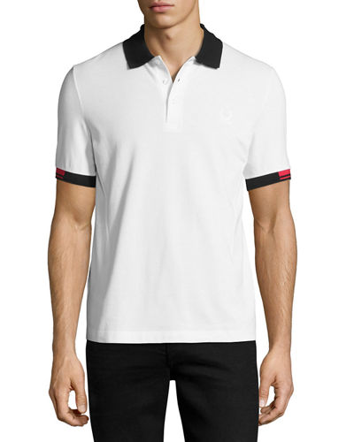 x Raf Simons Polo Shirt with Contrast Tipping