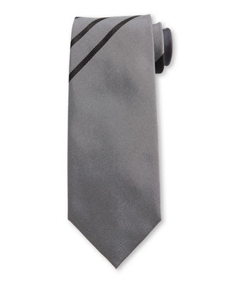 TOM FORD Asymmetric Stripe Silk Tie
