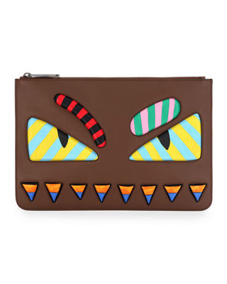 Fendi Striped Eye Monster Pouch