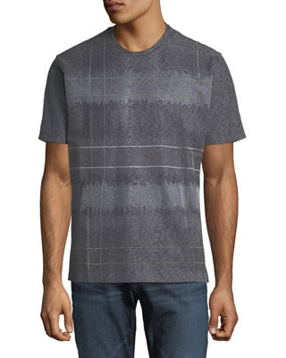 Colton Hall Plaid Embroidered Crewneck T-Shirt