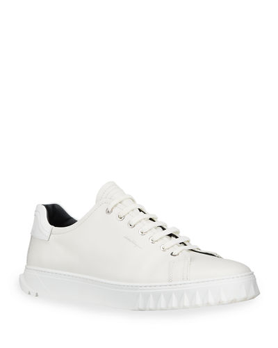 Salvatore Ferragamo Leather Low-Top Sneaker and Matching Items
