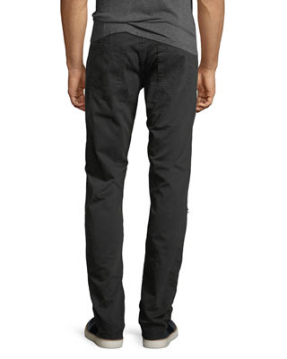 Image 2 of 3: Geno Distressed Slim-Straight Jeans