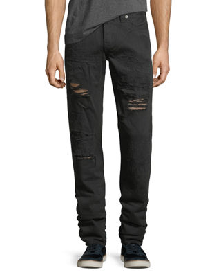 Image 1 of 3: Geno Distressed Slim-Straight Jeans