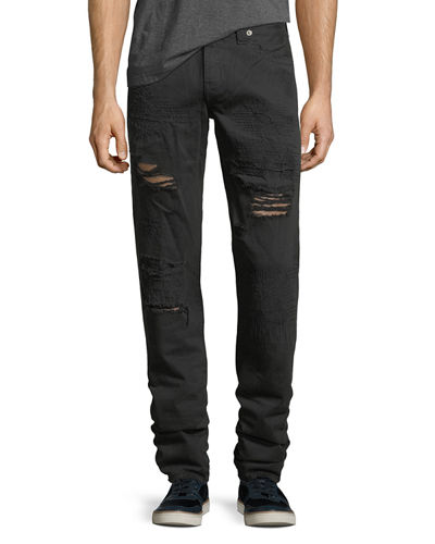 Geno Distressed Slim-Straight Jeans