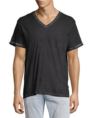 Faded Slub V-Neck T-Shirt