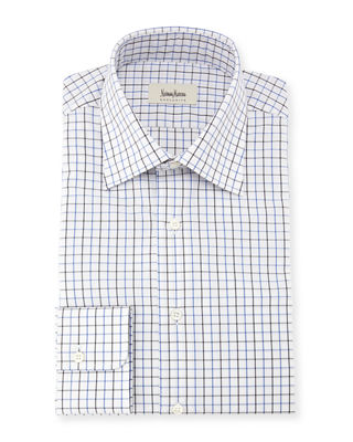 Image 1 of 2: Tattersall Check Dress Shirt