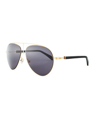 Balmain Metal Aviator Sunglasses