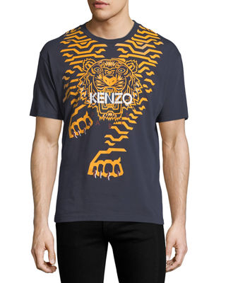 Kenzo Geometric Tiger-Graphic T-Shirt