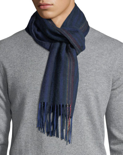 Multi-Stripe Wool Scarf