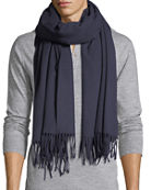 Canada Goose Solid Wool Fringed-End Scarf