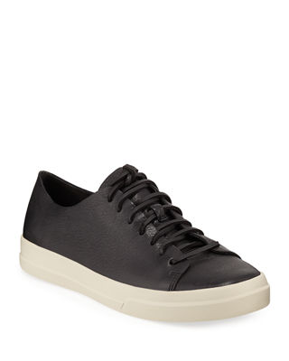 Vince Leather Low Top Sneakers