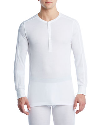 Image 1 of 2: Sport Tech Long John Henley Shirt