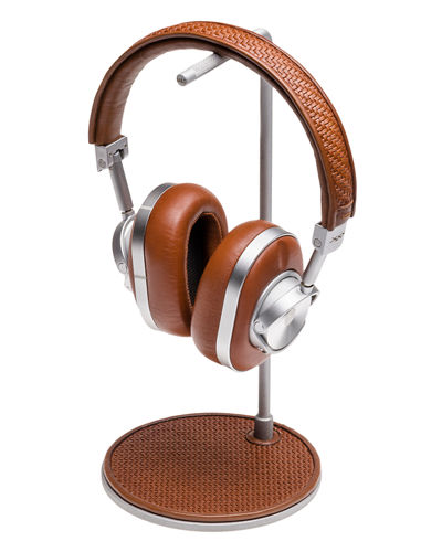 MW 60 Pelle Tessuta Aluminum Wireless Headphones and Stand