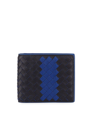 Striped Woven Bi-Fold Wallet