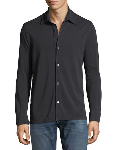 Image 1 of 2: TOM FORD Pique-Knit Sport Shirt