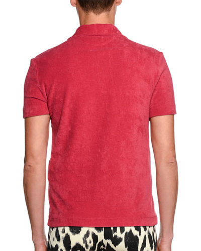 TOM FORD Terry-Cloth Polo Shirt