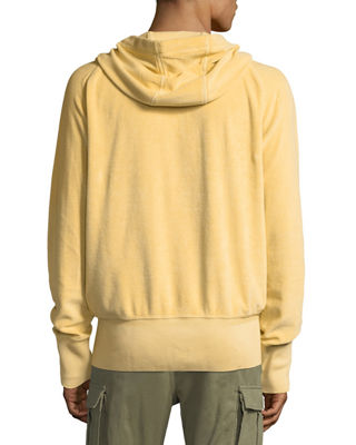 Image 3 of 6: Terry Cloth Zip-Front Hoodie
