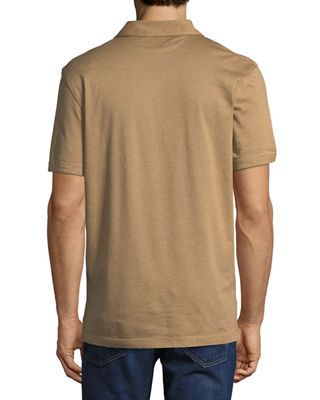 Image 2 of 2: Heathered Jersey Short-Sleeve Polo Shirt