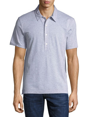 Heathered Jersey Short-Sleeve Polo Shirt