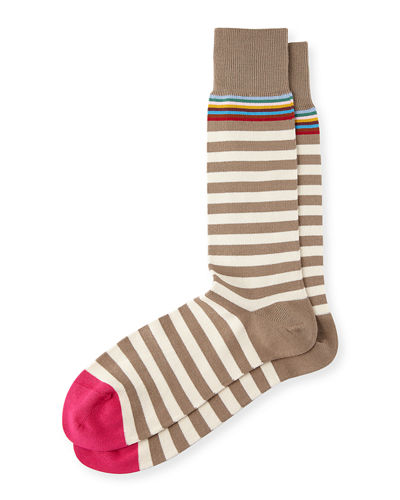 MULTI TOP TWO STRIPE SOCK