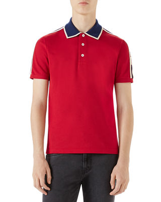 Gucci Contrast-Trim Polo Shirt