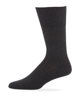 MARCOLIANI RIB-KNIT COTTON SOCKS
