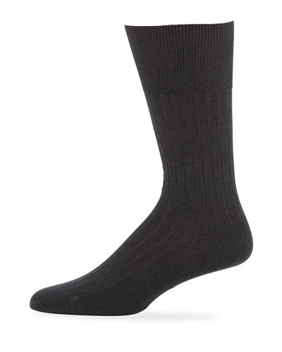Rib-Knit Cotton Socks