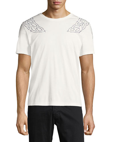 Laurel-Embroidered T-Shirt