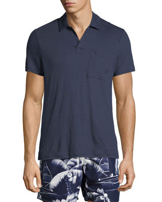 Image 1 of 2: Short-Sleeve Jersey Knit Polo