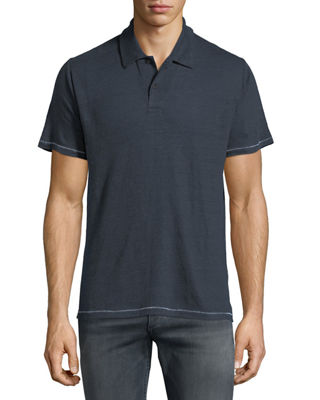 Rag & Bone Men's Owen Heathered-Knit Linen Polo