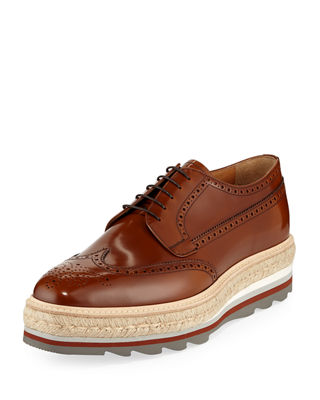 Spazzolato Leather Brogue Sneaker
