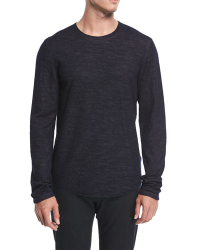 Contrast Double-Knit Sweater