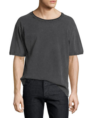 Saint Laurent Distressed Cotton T-Shirt