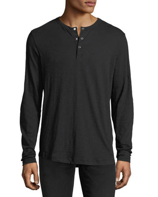 Nebulous Long-Sleeve Henley T-Shirt