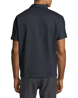 Image 2 of 2: Piqué Short-Sleeve Sport Shirt