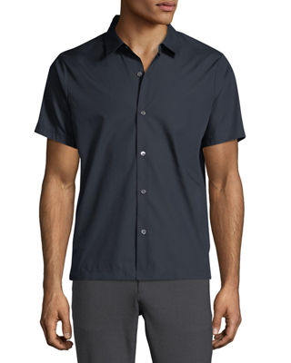 Image 1 of 2: Piqué Short-Sleeve Sport Shirt