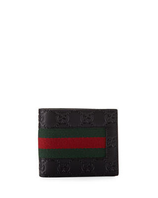 Gucci Logo-Embossed Signature Web Wallet