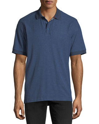 Image 1 of 2: Embroidered Piqué Polo Shirt
