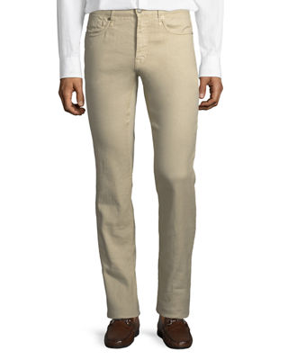 5-Pocket Chino Flat-Front Trousers