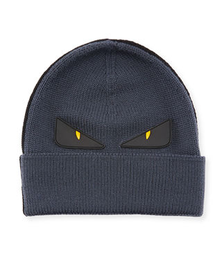 Fendi Monster Eyes Wool Beanie
