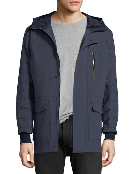 CANADA GOOSE SELWYN QUILTED PUFFER COAT, POLAR SEA/BLACK