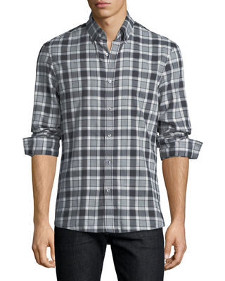 Michael Kors Edita Plaid Flannel Slim-Fit Sport Shirt