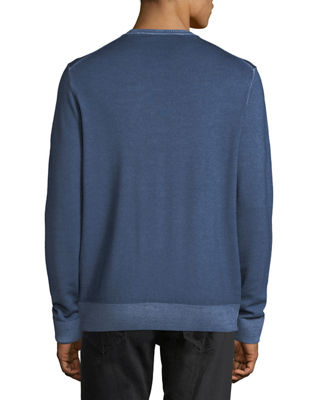 Image 2 of 2: Washed Wool Crewneck Sweater